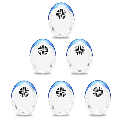 Ultrasonic Pest Repeller 6 Pack, Indoor Pest Control, Ultrasonic Pest Repellent, Indoor Pest Control for Home,Kitchen, Office, Warehouse, Hotel
