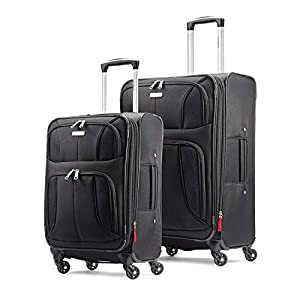 Samsonite Aspire xLite Expandable Softside 2-Piece Luggage Set (20/29) with Spinner Wheels, Black
