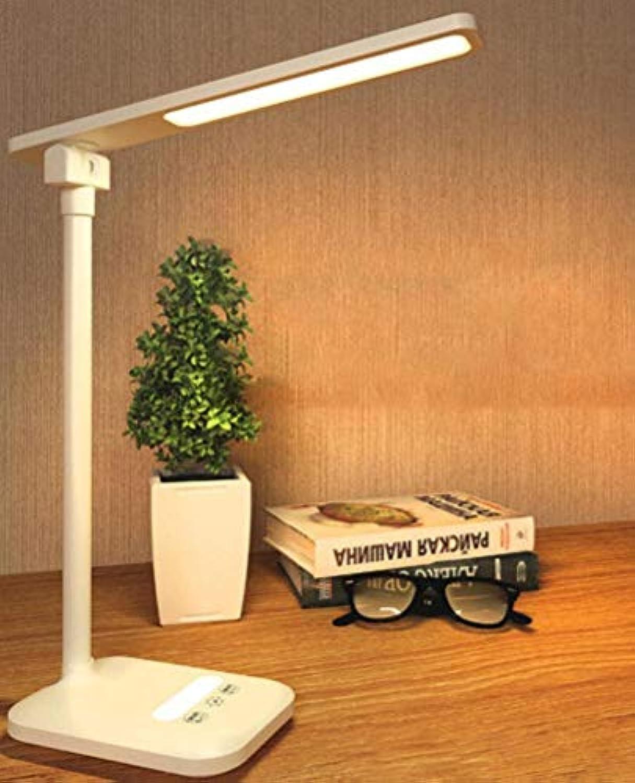 Xiadsk LED Tischleuchte faltbar dimmbar drehbarer Augenschutz USB Ladeanschluss Tischlampe Produktgre  35.8x28.8x11.8cm