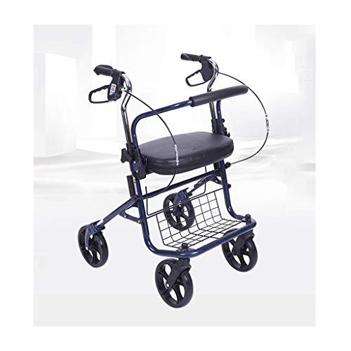 Deambulatore, Walker Riposo sede for anziani, portatori di handicap, mobilità limitata pazienti, Walking Chirurgia Stabile for Messaggio individui Injury, a quattro ruote girello ortopedico RVTYR
