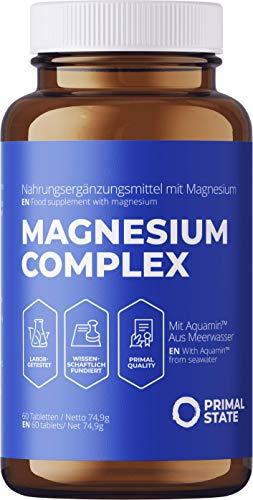 Magnesium Tabletten hochdosiert im 2 Monatsvorrat, Magnesiumkomplex aus Magnesiumcitrat und Magnesium Glycinat, frei von Zusatzstoffen - 60 Tabletten