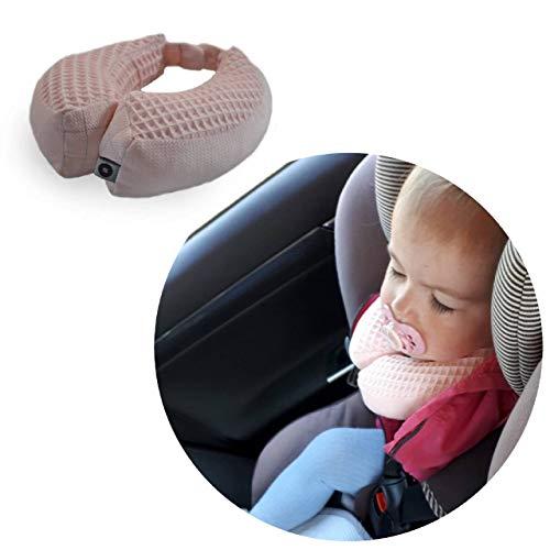 Baby Reisekissen/Nackenstütze/Kopfstütze mit Magneten befestigt, 1-2 JAHRE, Farbe: ROSE