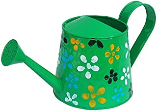 Railing Planter Impex 2 litres Hand Painted Metal planters Round Watering Can - Rust Free Home Decor Gifting, Garden, Gard...