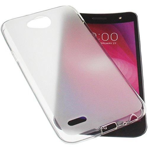 foto-kontor Tasche für LG X Power2 Gummi TPU Schutz Handytasche transparent weiß
