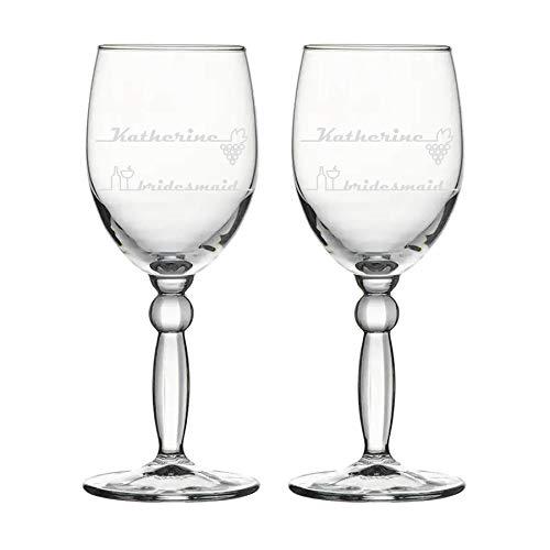 Copa de vino, personalizada, grabada - elegante - 2 vasos (1)