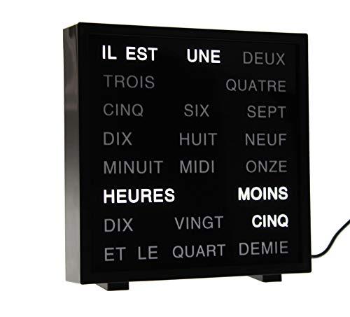 LED Word Clock - French 17 x 16.5 cm
