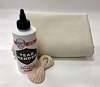 Montana Canvas Wall Tent Repair Kit, Repair Kit with 10oz Treated Grade 'A' Canvas, Packable Repair Kit for Tents, Clothing, tarps