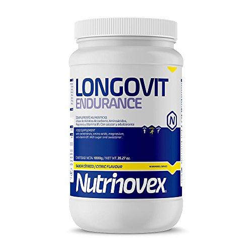 Nutrinovex Longovit Endurance Bebida Energética, Aroma Cítrico - 1000 gr