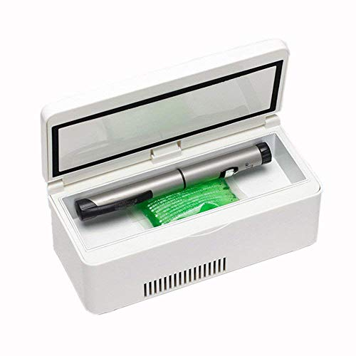 Kühltaschen & -boxen Medizin-Kühlschrank und Insulin-Kühler mit Temperatur-Kontrollsystem Tragbare Medikations-Kühlbox Für Reise-Auto-Insulin-Box (7,52X3,46X2,83Inch)