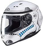 HJC NC Casco per Moto, Hombre, Blanco/Azul, XS