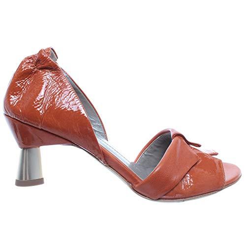 IXOS Damen Schuhe Sandalen Orange Silene Aragosta Leder Made In Italy Neu