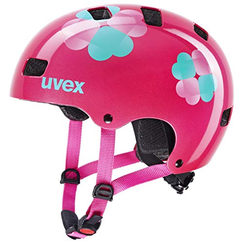 uvex Kid 3, Casco Bicicletta Unisex-Youth, Pink Flower, 55-58 cm