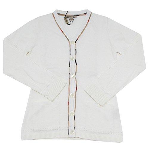 BURBERRY 9825F Cardigan Check Cotone Angora Maglione Maglia Bimba Sweater Kids [6 years]