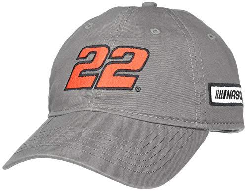 Ouray Sportswear NASCAR Unisex-Adult Epic Washed Twill Cap Joey Logano, Dark Grey, Adjustable