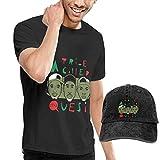 Baostic Camisetas y Tops Hombre Polos y Camisas, Tribe Called Quest Logo Men's Cotton Casual T-Shirt & Baseball Cap Hat