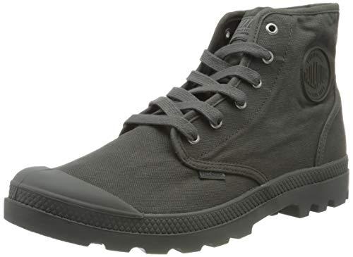 Palladium Men's Combat Boots Ankle, Metal Black, Women 2