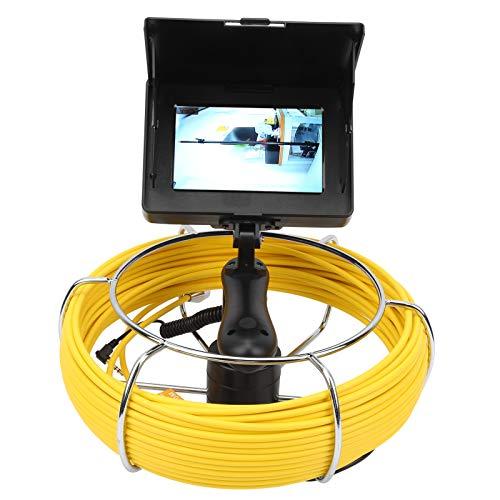 Unterwasserforschung Kanalinspektionskamera Abflussrohrkamera Pipelineinspektionskamera Rohrkamera Kanalendoskop zur Rohrinspektion mit Lagerung(F5P17-20M)