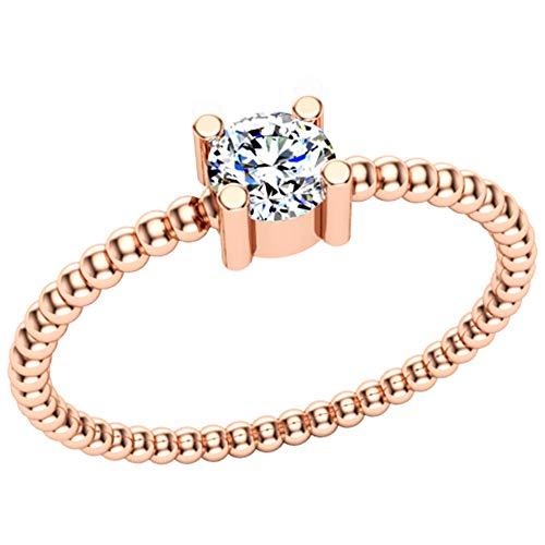 Anillo de diamantes de 18 quilates con certificación IGI/IGLI de 0,24 quilates (color HI, claridad I1-I2) para mujeres y niñas de Dishis Designer Jewellery 6