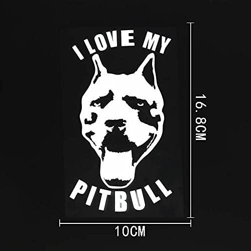 WZJH 1 0CMX16.8CM Animal I Amo a mi Pitbull Vinyl Coche Pegatina Calcomanía Negro/Plata (Color Name : Silver)
