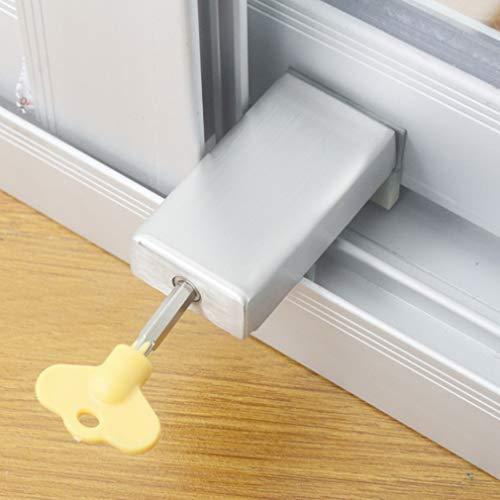 Schiebefensterschlösser, verstellbar, Aluminiumlegierung, Fensterschloss, Kunststoff-Stahl, Fenstersicherung, Diebstahlschutz, Fensterschloss, Begrenzung mit Schlüssel