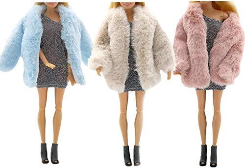 XinYiC Abrigo de franela suave de manga larga para ropa de invierno, ropa informal para muñecas de 11.5 pulgadas, juguete de 3 piezas