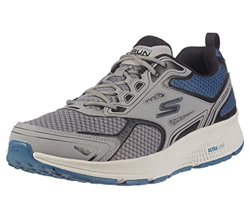 Skechers mens Go Consistent Vesitge-performance & Walking Sneaker Running Shoe, Grey/Blue, 10 US