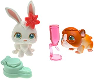Littlest Pet Shop Pair - Bunny & Guinea Pig - Very Hard to Find
