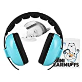 Noise Cancelling Headphones for Kids, Baby Ear Muffs Noise Protection Infant, Adjustable Head Band, Soft & Comfortable Pad for Sleeping, Studying, Travel - Age 3 Months to 2 Years