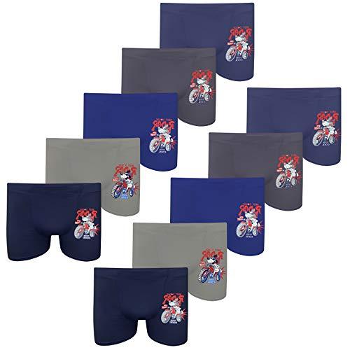 PiriModa Juego de calzoncillos tipo bóxer para niño, de algodón, tallas 92-158/2-13 años, Modelo 11 – 10 unidades., 92/98 cm