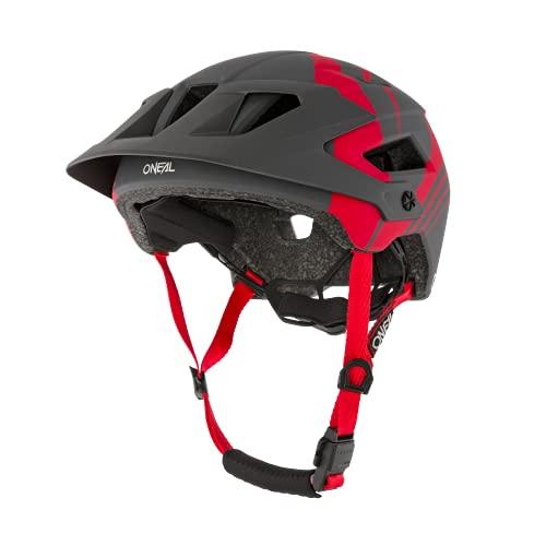 O'NEAL | Mountainbike-Helm | Enduro All-Mountain | Belüftungsöffnungen für Kühlung, Polster waschbar, Sicherheitsnorm EN1078 | Helmet Defender Nova | Erwachsene | Rot Grau | Größe XS M