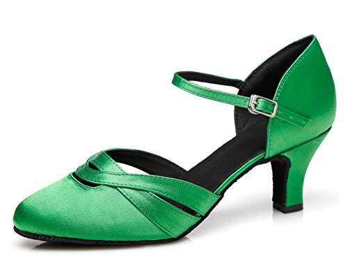 MINITOO , Damen Standard & Latein, Grün - Green-6cm Heel - Größe: EU 38, 5.5 UK