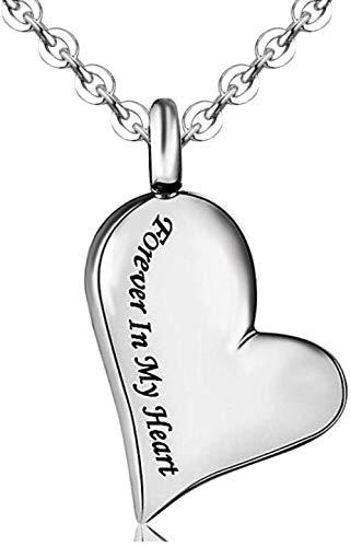 Ashes ketting roet ketting roet ketting sieraden roestvrij staal hypoallergeen hart voor altijd in mijn hart crematie moeder vaders ketting rook hanger sieraden oom