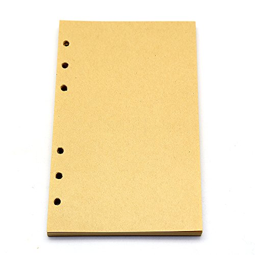 Refillable Vintage Diary Notebook Craft Blank Paper For EvZ 7 Inches Nautical or Leaf Journals