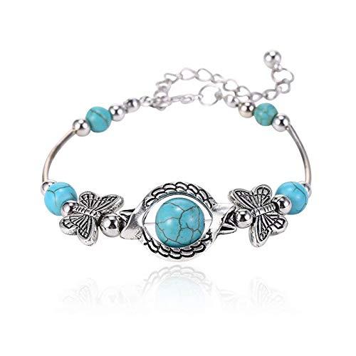 Turquoise Bracelet Classic Luxury Women Summer Unique Design Beaded Imitation