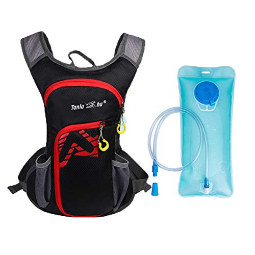 Monotele Hydration Packs, Running Cycling Hydration Backpack for Hiking, Cycling, Biking, Running, Walking and Climbing (Black(with Water Bladder))