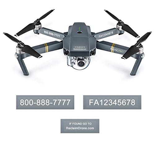 FAA Drone Labels (3 Sets of 3) Designed for DJI Mavic Pro - 3 Color Options