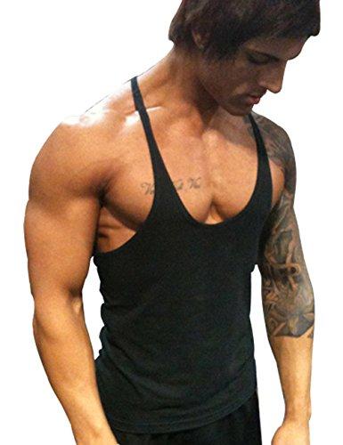 Muscle Alive Uomo Palestra Stringer Canottiera Cotone Bodybuilding Allenarsi Vest