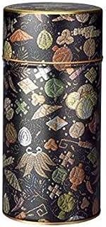 【茶筒?茶葉ストッカー】 【玉織(黒) 200g(φ74mm×H155mm)】 【内容量200g用 】