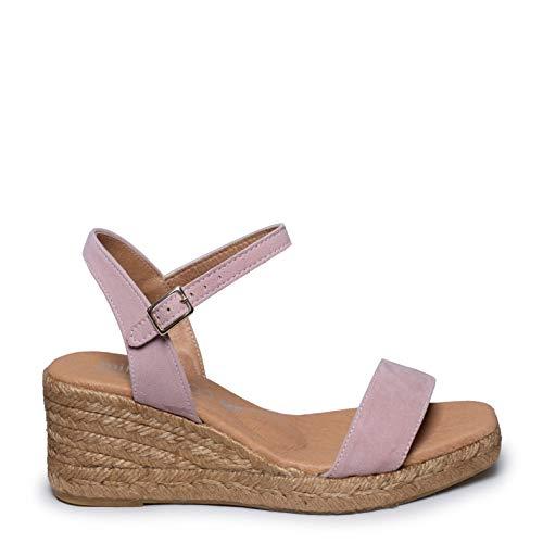 Zapatos miMaO. Zapatos Piel Mujer Hechos EN ESPAÑA. Sandalia Tacón Mujer. Sandalia Verano Tacón Ancho. Zapatos Cómodos Mujer con Plantilla Confort Gel