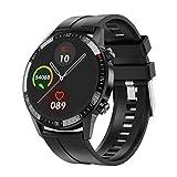 Hanone Reloj Inteligente Q88 con Alarma Musical y Reloj Inteligente Masculino de Gran Capacidad a Prueba de Polvo Negro