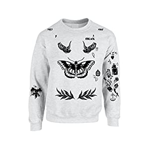 Allntrends Adult Sweatshirt Harry Tattoos Cool Top Trendy Gift Cute