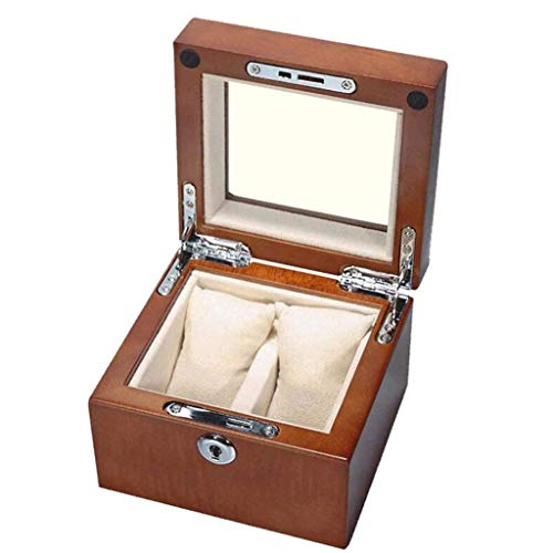 XZJJZ Joyería de Caja - sólido Puro de Madera Caja de Reloj de visualización colección de la Caja de Madera sólida Caja de Reloj Caja de Almacenamiento (Color : A)