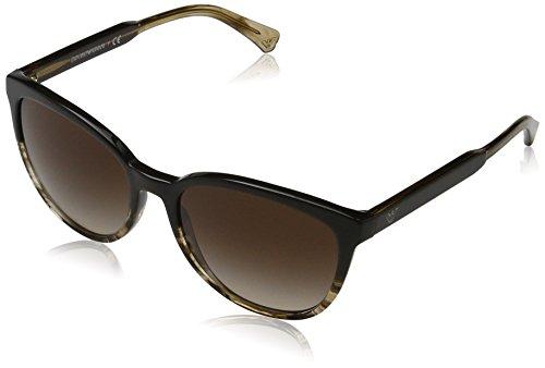 Emporio Armani Damen 0ea4101 Sonnenbrille, Braun (Brown/Tr Striped Beige), 56