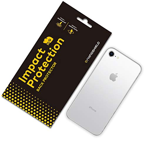 RhinoShield Back Protector Compatible with [iPhone SE2 / SE (2020) / 8/7] | Impact Protection - High Strength Impact Damping/Dispersion Technology - Clear And Scratch Protection
