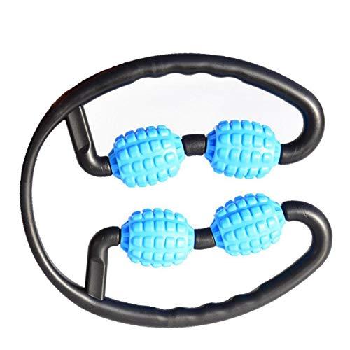 Symina Rollenmassagegerät, Massagegerät Roller 3D Schaumschaft Beinmuskel Relaxer Massagegeräte (Blue)