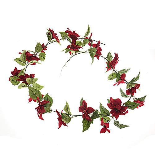 Floristrywarehouse Bande Poinsettia pin et Berry de No/ël Bougie Bague Artificiel 20/cm//20,3/cm