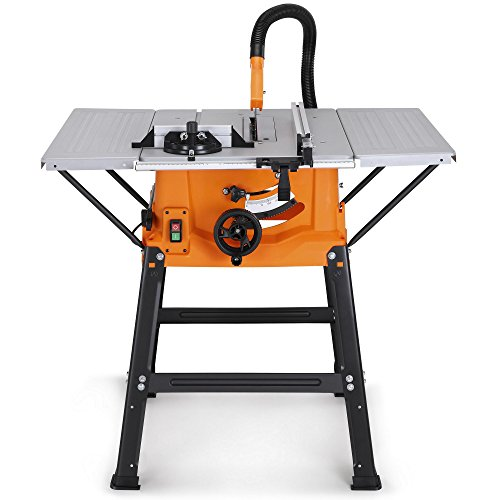 """VonHaus Table Saw - Circular Saw Function 1800W 10"""" (250mm) with 5500rpm Underframe – High Spec with Attachable Table Sides – Make Longitudinal & Angle Cuts with Carbide-Tipped Saw Blade Fixable"""