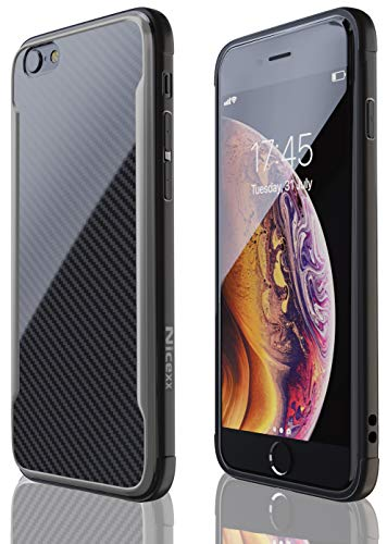 iPhone 6 Case | iPhone 6S Case | Shockproof | 12ft. Drop Tested | Carbon Fiber Case | Lightweight | Scratch Resistant | Compatible with Apple iPhone 6/6S - Black