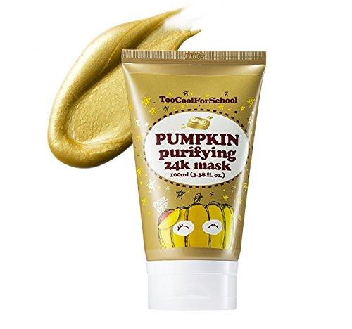 Too Cool For School Pumpkin Purifying 24K Mask (100ml 3.38 fl.oz) (Zu cool für die Schule Kürbis Reinigung 24K Maske)