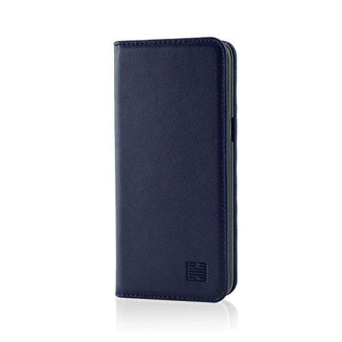 32nd Klassische Series - Lederhülle Hülle Cover für Samsung Galaxy S8 Plus, Echtleder Hülle Entwurf gemacht Mit Kartensteckplatz, Magnetisch & Standfuß - Marineblau